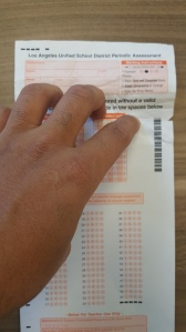 A picture of a scantron