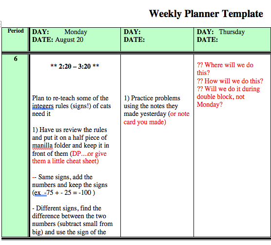 Push-in Planner