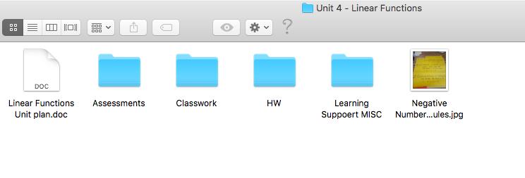 Unit Folder - Math